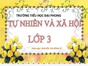 TRNG TIU HC I PHONG Gio vin NGUYN