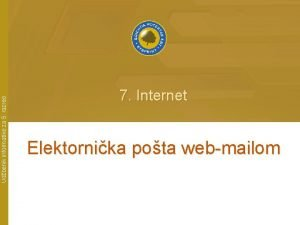 Udbenik informatike za 5 razred 7 Internet Elektornika