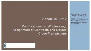 Gaylene Rogers Lonergan Law Firm PLLC Senate Bill
