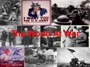 The World At War Causes of World War