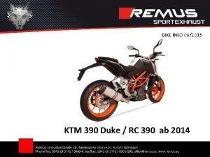 BIKE INFO 092015 KTM 390 Duke RC 390