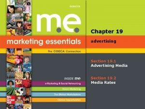 Chapter 19 advertising Section 19 1 Advertising Media