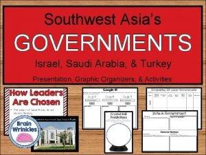 Southwest Asias GOVERNMENTS Israel Saudi Arabia Turkey Presentation