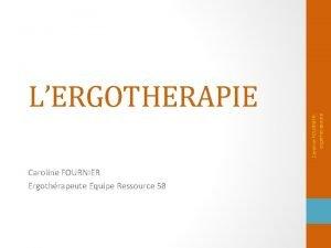 Caroline FOURNIER Ergothrapeute Equipe Ressource 58 Caroline FOURNIER