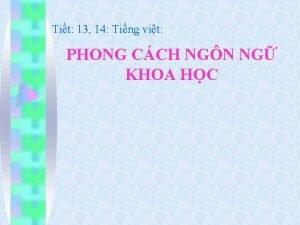 Tit 13 14 Ting vit PHONG CCH NGN