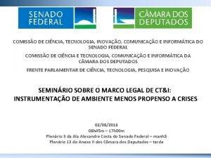 COMISSO DE CINCIA TECNOLOGIA INOVAO COMUNICAO E INFORMTICA