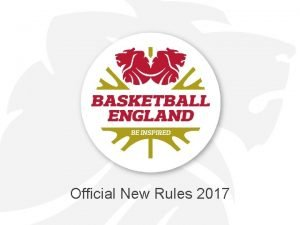 Official New Rules 2017 Official New Rules National