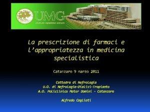 La prescrizione di farmaci e lappropriatezza in medicina