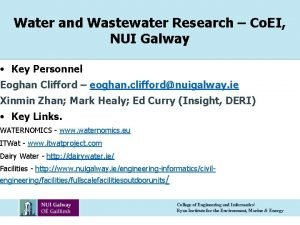 Water and Wastewater Research Co EI NUI Galway