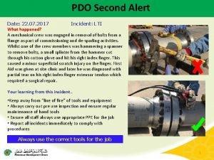 PDO Second Alert Date 22 07 2017 Incident