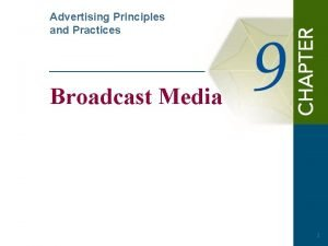 Advertising Principles and Practices Broadcast Media 1 Questions