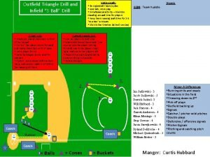 Outfield Triangle Drill and Infield 3 Ball Drill