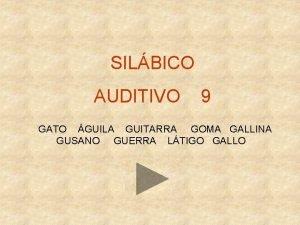 SILBICO AUDITIVO 9 GATO GUILA GUITARRA GOMA GALLINA