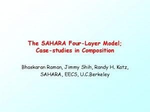 The SAHARA FourLayer Model Casestudies in Composition Bhaskaran