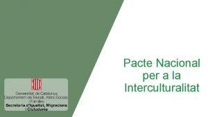 Pacte Nacional per a la Interculturalitat 1 Visi