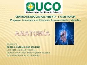 CENTRO DE EDUCACION ABIERTA Y A DISTANCIA Programa