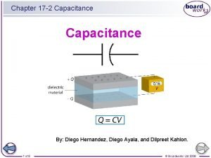 Chapter 17 2 Capacitance By Diego Hernandez Diego