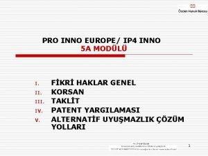 PRO INNO EUROPE IP 4 INNO 5 A
