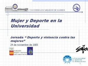 Mujer y Deporte en la Universidad Jornada Deporte