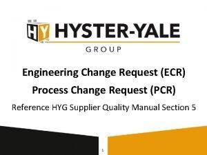 Engineering Change Request ECR Process Change Request PCR