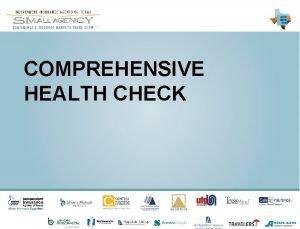 COMPREHENSIVE HEALTH CHECK YOUR COMPREHENSI VE HEALTH CHECK
