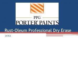 RustOleum Professional Dry Erase 2012 RustOleum Professional Dry