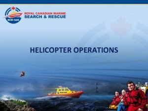 HELICOPTER OPERATIONS Helicopter Types Helicopter Types Cormorant Messerschmidt