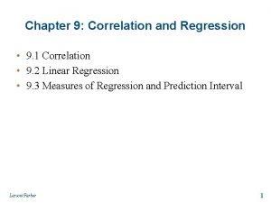 Chapter 9 Correlation and Regression 9 1 Correlation