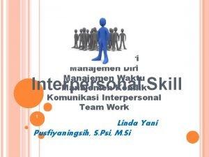 Pengenalan Diri Manajemen Waktu Manajemen Konflik Komunikasi Interpersonal