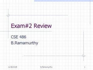 Exam2 Review CSE 486 B Ramamurthy 11302020 B