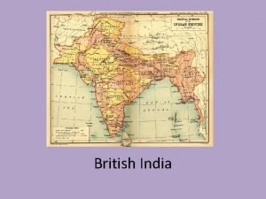 British India British East India Company The British