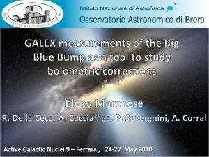 GALEX measurements of the Big Blue Bump as