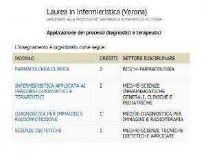 Regole per lo svolgimento dellesame di Applicazione dei