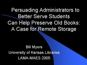 Persuading Administrators to Better Serve Students Can Help