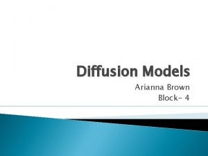 Diffusion Models Arianna Brown Block 4 What is