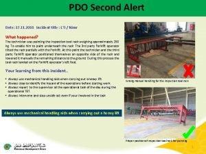 PDO Second Alert Date 27 11 2016 Incident