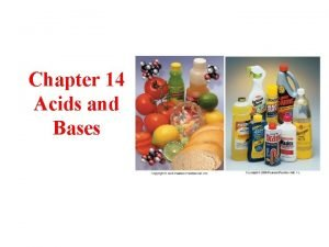 Chapter 14 Acids and Bases Types of Electrolytes