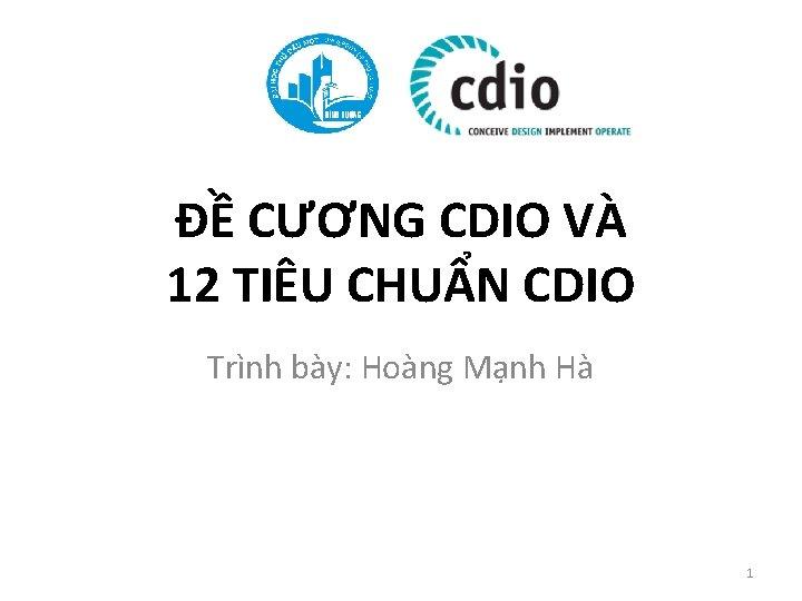 CNG CDIO V 12 TIU CHUN CDIO Trnh