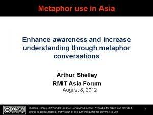 Metaphor use in Asia Enhance awareness and increase