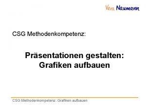 CSG Methodenkompetenz Prsentationen gestalten Grafiken aufbauen CSG Methodenkompetenz