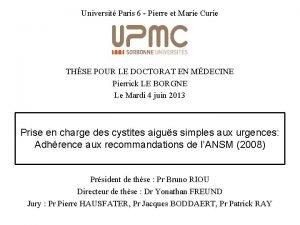 Universit Paris 6 Pierre et Marie Curie THSE