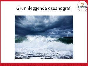 Grunnleggende oseanografi En introduksjon til havet Ca 70