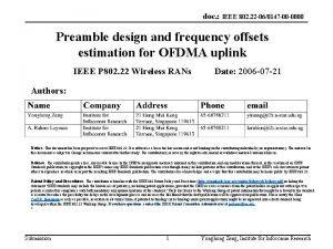 doc IEEE 802 22 060147 00 0000 Preamble