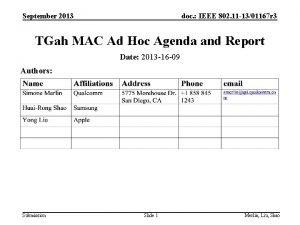 September 2013 doc IEEE 802 11 1301167 r