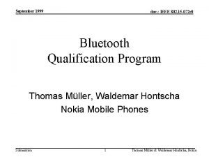 September 1999 doc IEEE 802 15 072 r