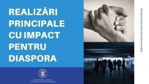 REALIZRI DOMENIUL DIASPORA Programul Diaspora Startup pentru finanarea