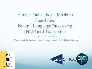 Human Translation Machine Translation Natural Language Processing NLP
