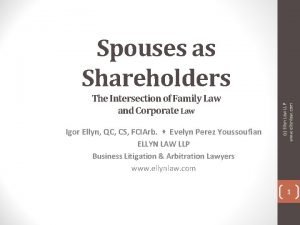 The Intersection of Family Law and Corporate Law