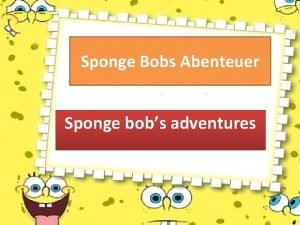Sponge Bobs Abenteuer Sponge bobs adventures Going Shopping