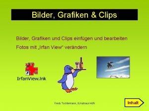 Bilder Grafiken Clips Bilder Grafiken und Clips einfgen